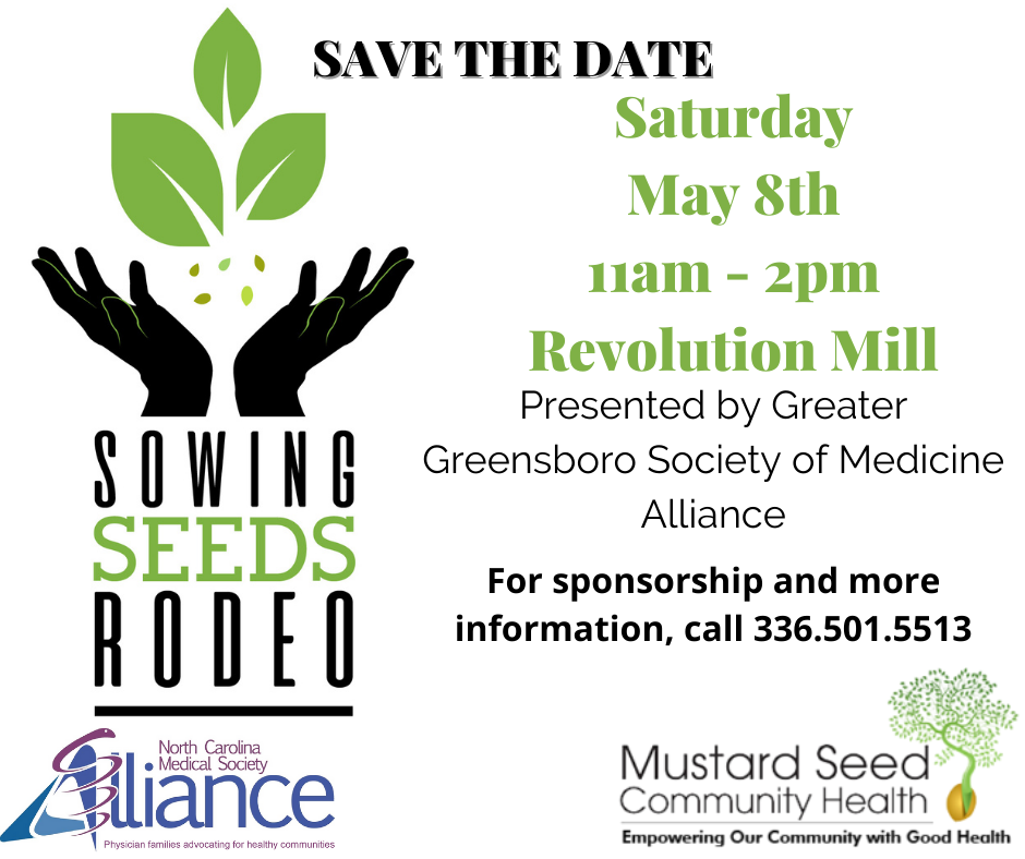 Sowing Seeds Rodeo flyer for Spring 2021